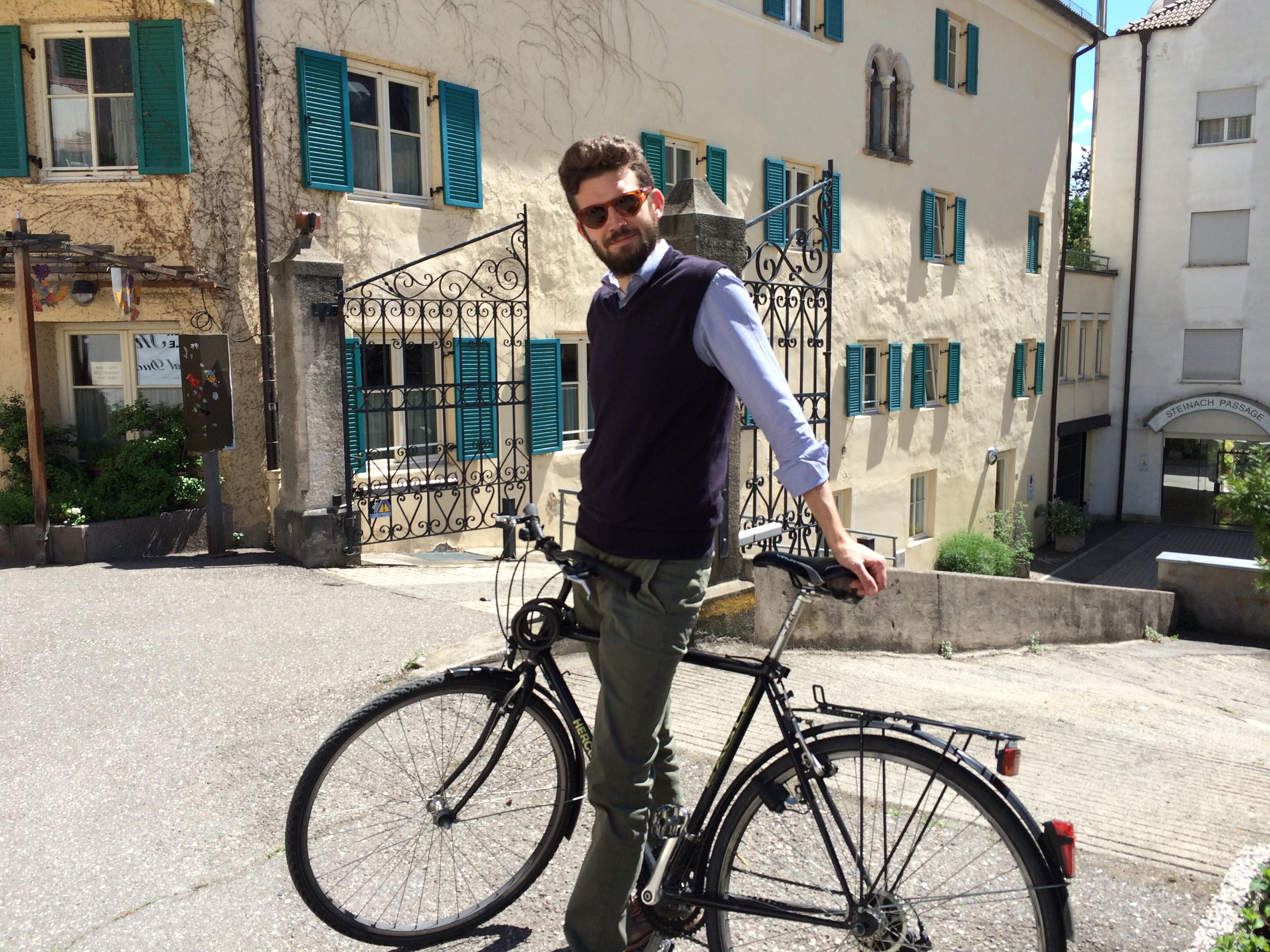 Radfahrer, Meran
