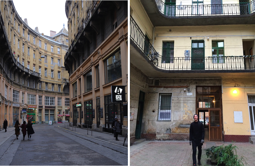 Unterwegs in den Straßen von Budapest...