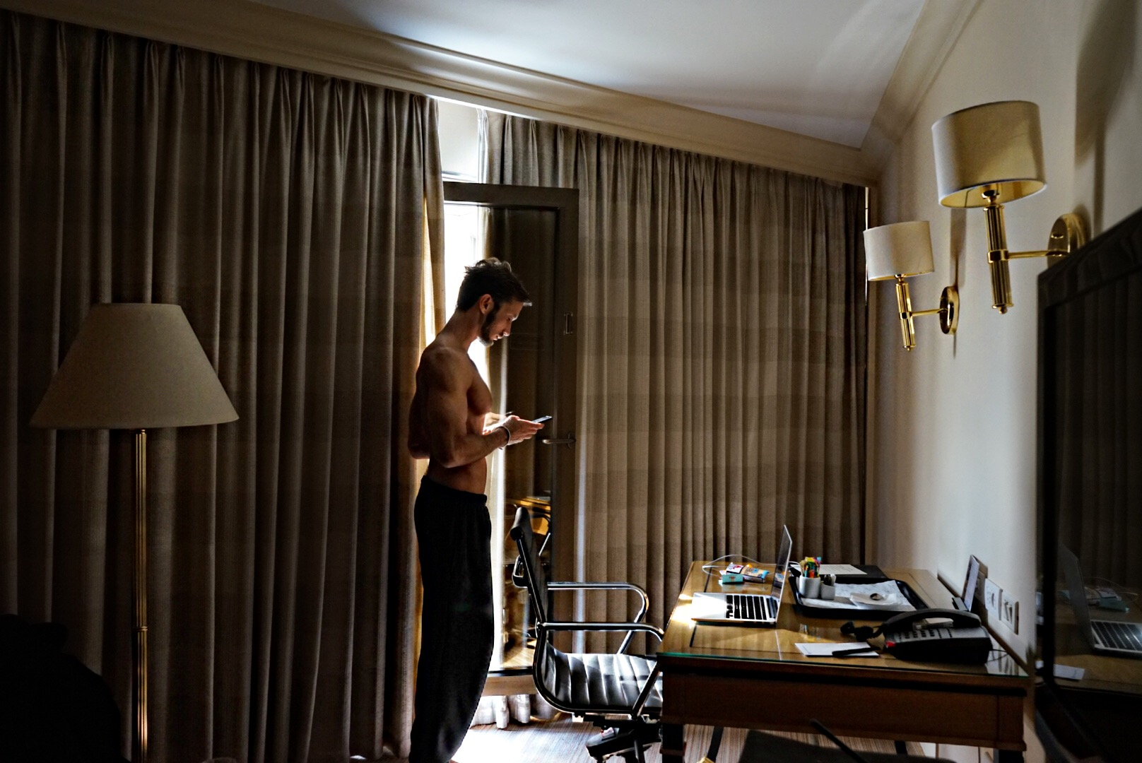 """I REALLY LIKE TO ESCAPE, ESCAPE TO HOTELS.."" Location: David InterContinental Tel Aviv"