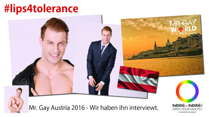 #lips4tolerance • Mr. Gay Austria 2016 im Kurz-Interview