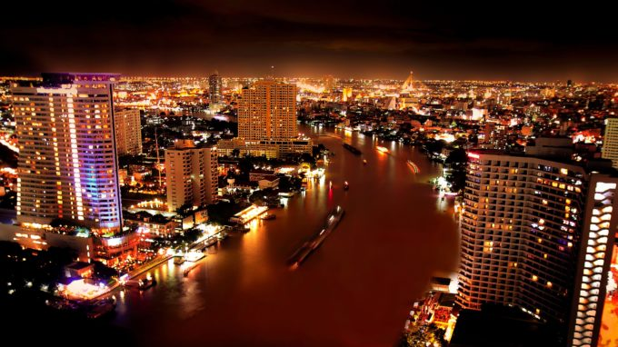 Chao Phraya River at Dark, Bangkok