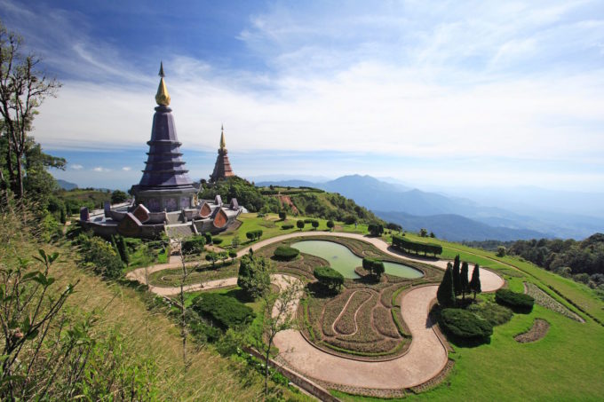 The Twin Pagodas, Doi Inthanon  Chiang Mai