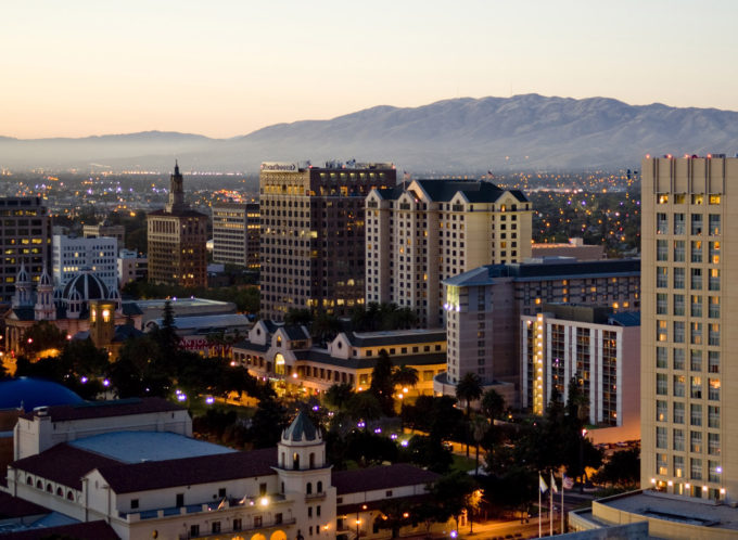 Downtown San Jose in the evening